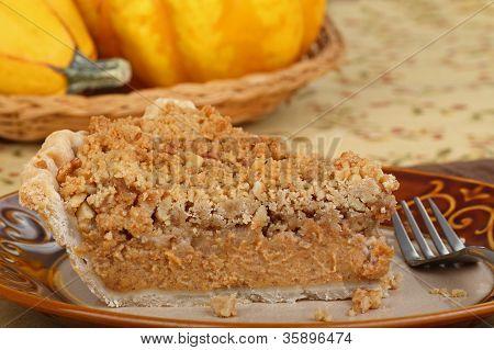 Streusel Pumpking Pie Slice