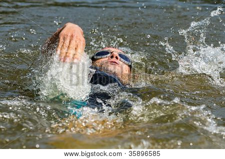 swimmer in backstroke