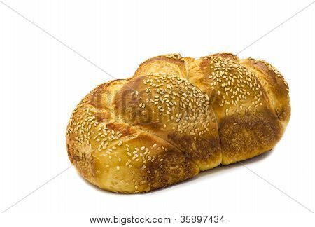Sabbath Challah isolated on white background