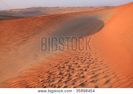 Dusk in the Sand Dunes of the Emirates