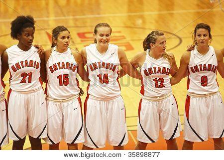 Team Ontario Women Basketball Players