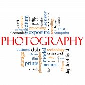 Photography Word Cloud Concept
