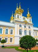 Постер, плакат: Церковь в Петергофе вблизи Санкт Петербург Россия