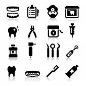 stock photo of medical supplies  - Dental Icons - JPG
