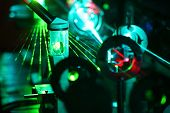 picture of diffraction  - Movement of microparticles by beams of laser in lab - JPG