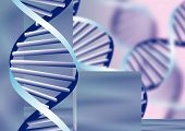 Dna Helix, Biochemical Abstract Background With Defocused Strands, Eps10 poster