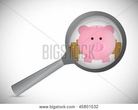 Searching For Profits Illustration Design