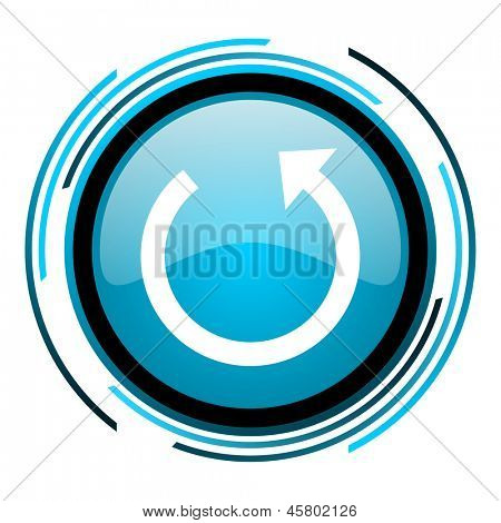 rotate blue circle glossy icon