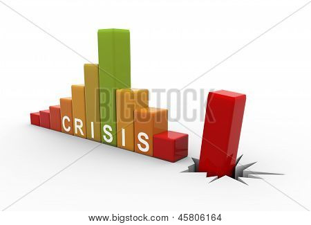 3D Business Crisis Bars