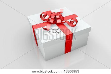 a gift in a white cardboard