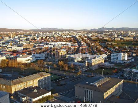 Downtown Reykjavik, Iceland, View From Hallgrimskirkja Church