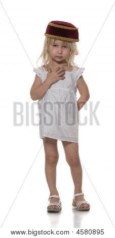 Little Girl In Skullcap