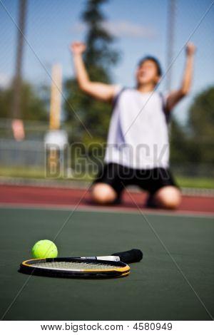 Winning Tennis Player