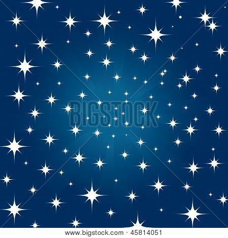 Beautiful Night Star Sky Background