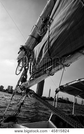 Felucca Halyard And Boom