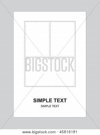 Blank Stamps Set