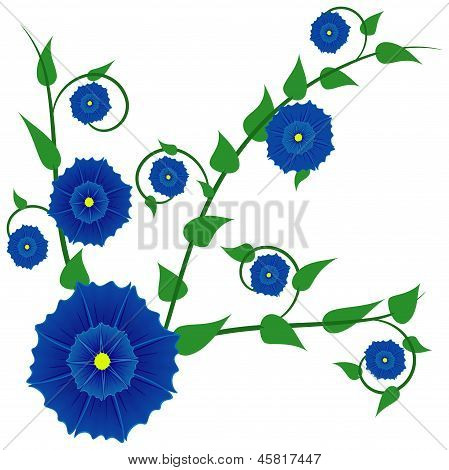 Abstract Blue Flower.