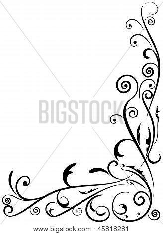 Ornament Floral Design,  Raster Illustration.