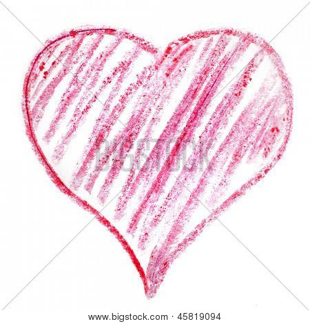 colorful symbol valentine day red heart isolated on white background