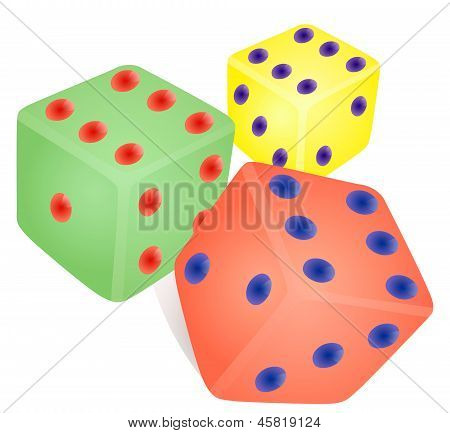 Dice Game Coloring.