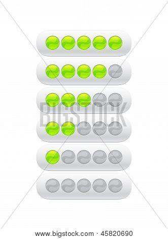 Progress Bar From Green Circles