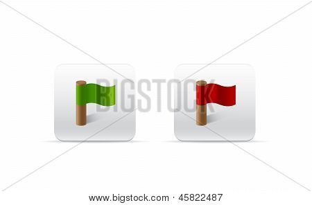 Red And Green Flags For Web