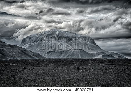 Herdubreid is one of the most beautiful Icelandic volcanoes, the