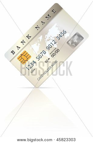 Credit Or Debit Card Design Template
