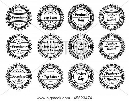 Set Of Many Different Stamps