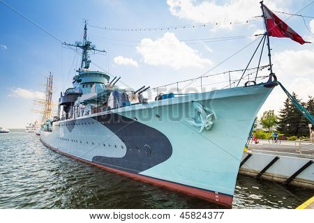 GDYNIA, POLAND - MAY 19: Polish destroyer