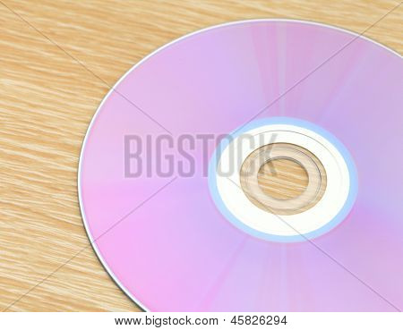 CD on table