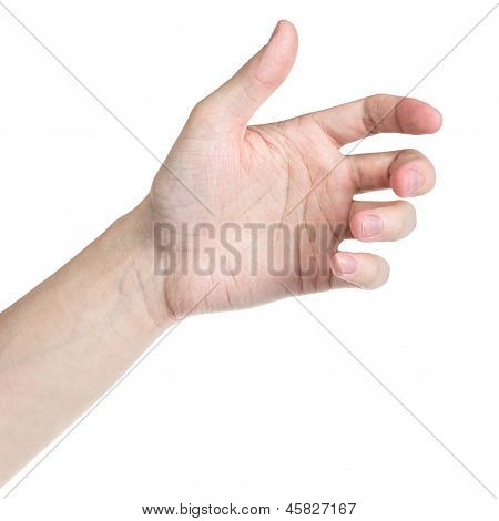 Adult Man Hand To Hold Something Like Phone