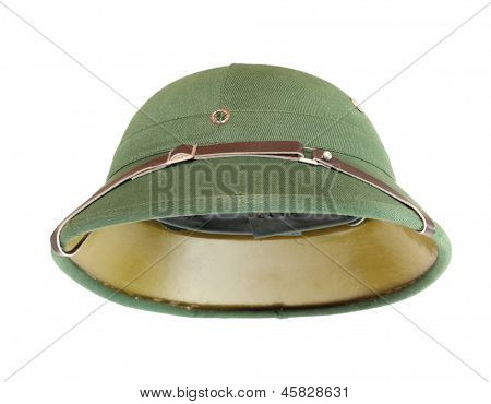 Pith helmet on a white background.
