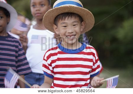 Children at 4th of July parade