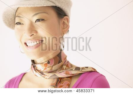 Close up of a young woman smiling