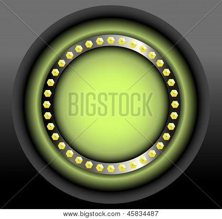 round green label