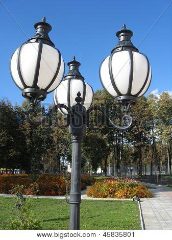 Lanterns In City Park