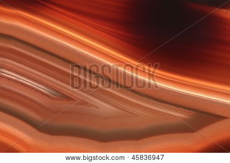 Plano de fundo vermelho ágata Gem (macro, detalhe)