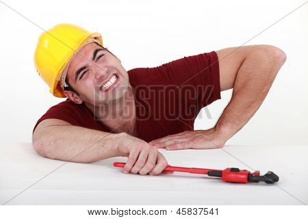 Workman with a wrench