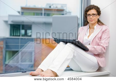 Creative Businesswoman With Laptop