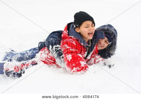 Children And The Snow