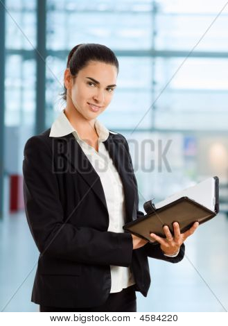 Businesswoman Reading