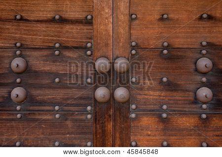Japanese old castle door