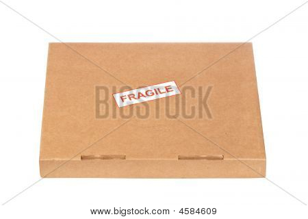 Fragile On Cardboard Box