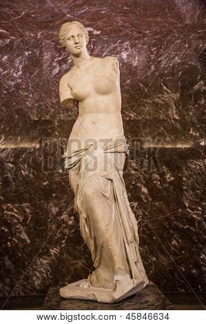 Aphrodite Of Milos In Louvre In Paris