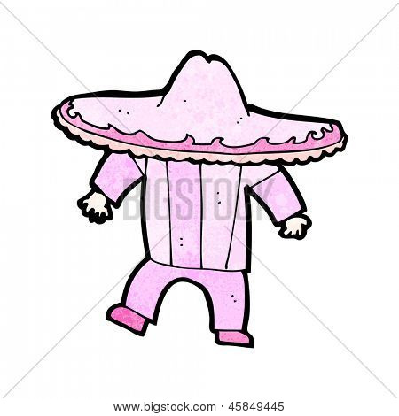 cartoon man in pink mexican outfit