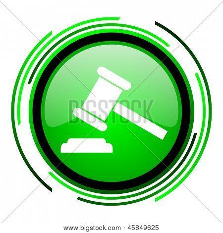 law green circle glossy icon