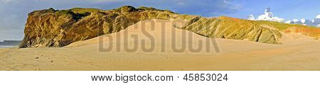 Rocks and sanddunes at Vale Figueiras in Portugal