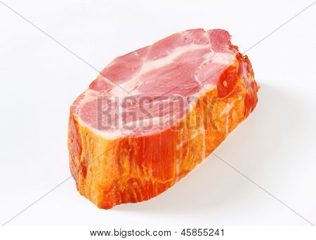 block of smoked pork neck