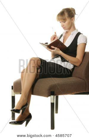 Businesswoman In Rusty Chair